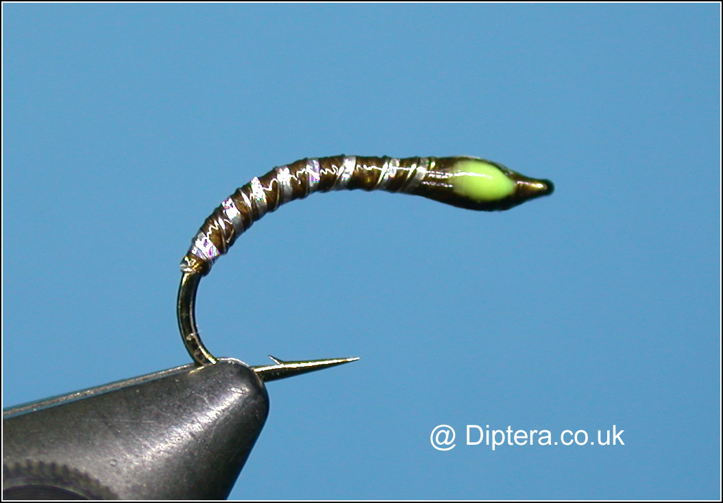 Olive Silver Ribbed Buzzer Fly Image