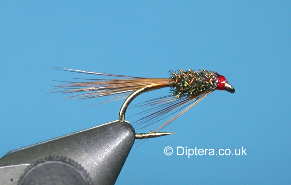 Tying the Short Version of the Red Head Diawl Bach Completed Fly