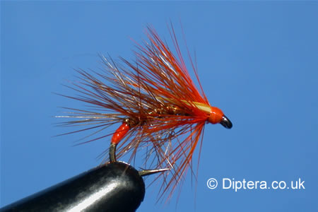 Tying the Hot Orange Wickham's Snatcher Completed Fly